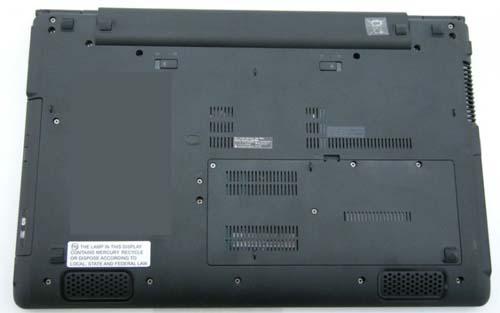 Ноутбук, вид снизу