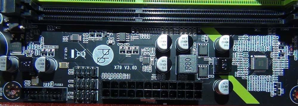 Разъем питания платы Huananzhi X79-ZD3