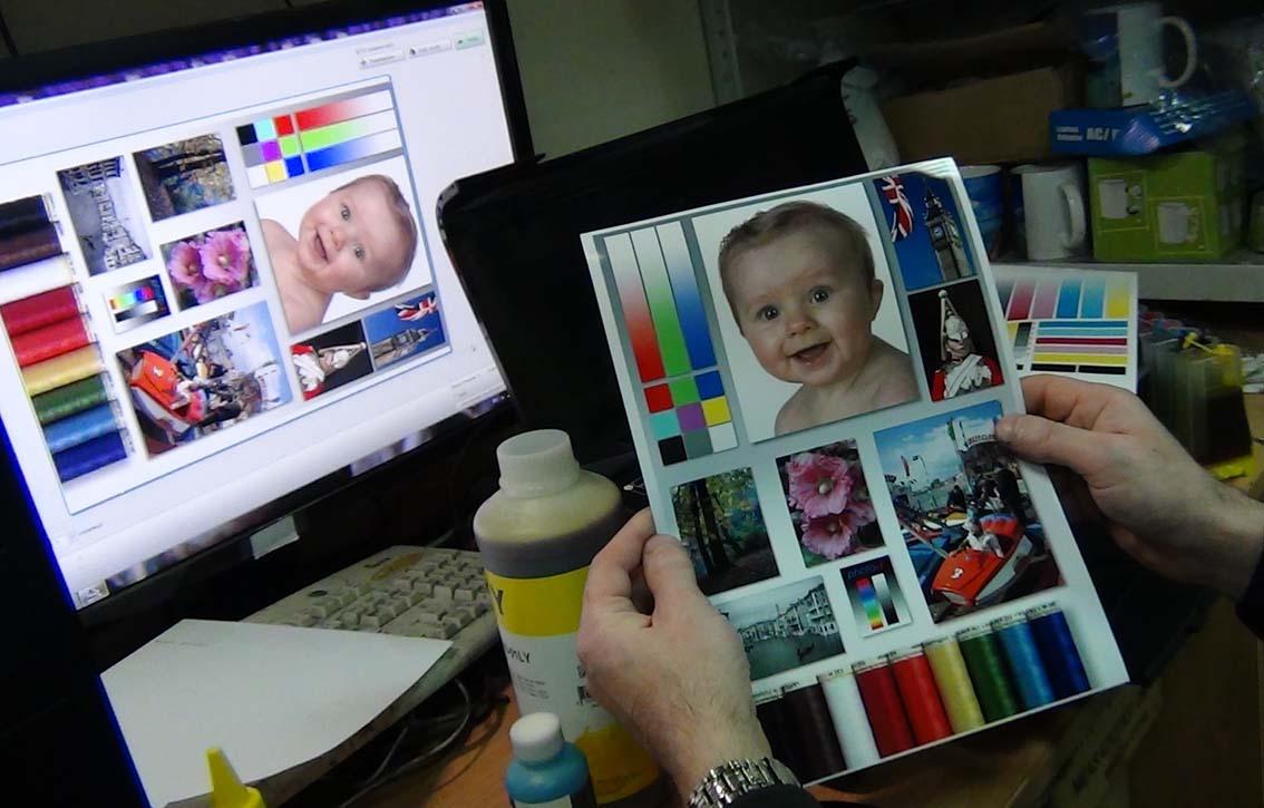 Сравниваем изображение на мониторе и на бумаге InkTec
