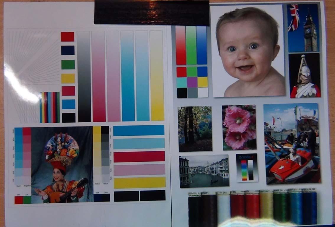 Тестовый лист тестирования цветопередачи