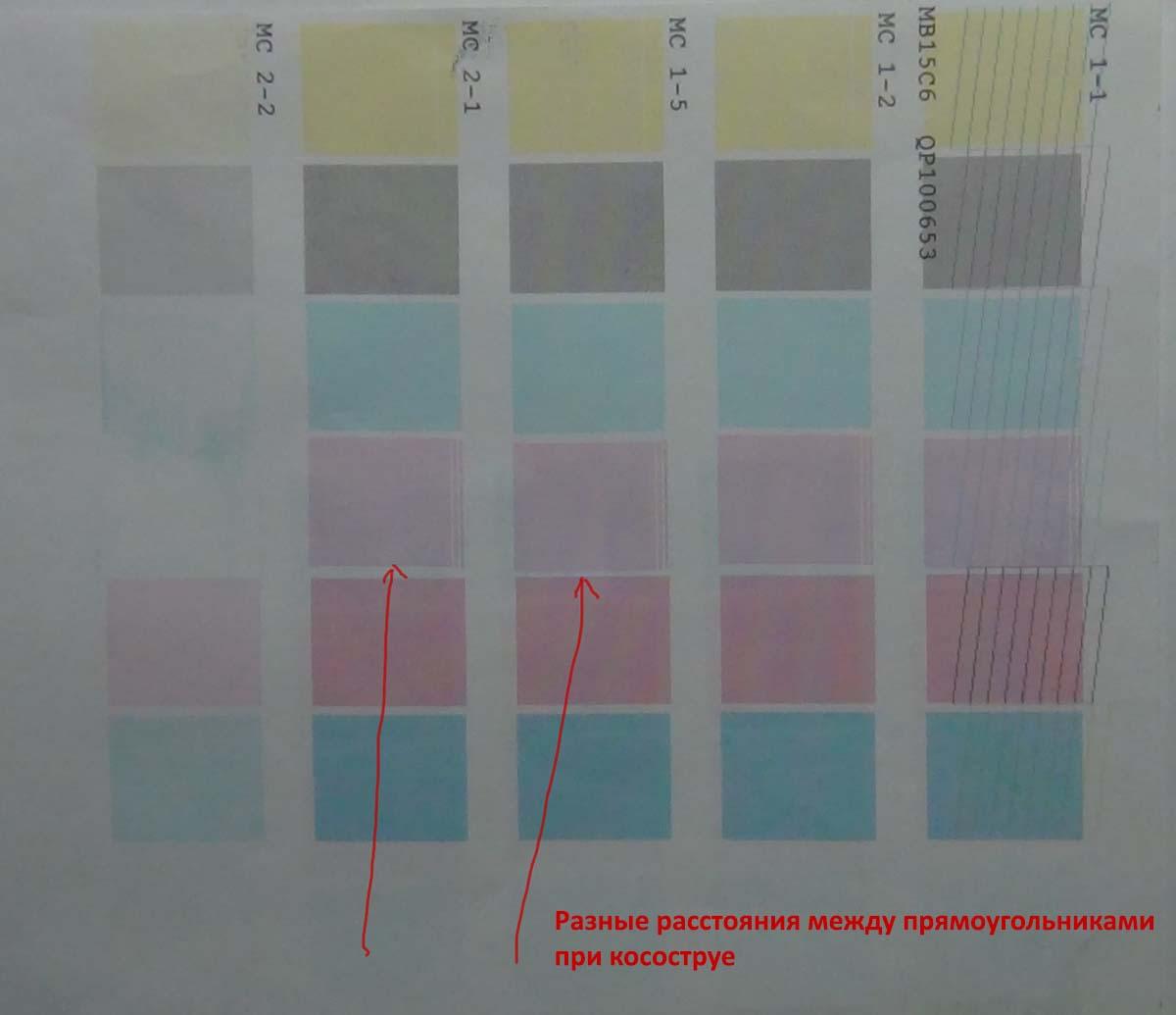 Косоструй. Тест режимов печати, разные расстояния и неровные линии