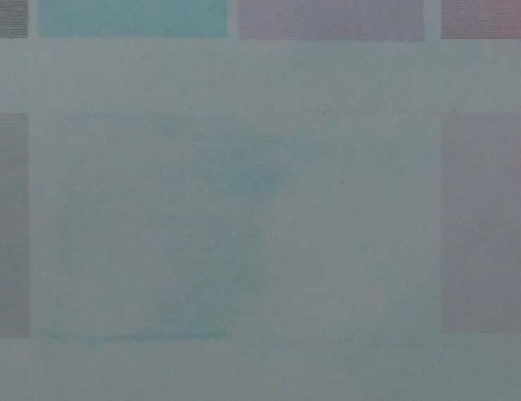 Как выглядит косоструй на тесте режимов печати