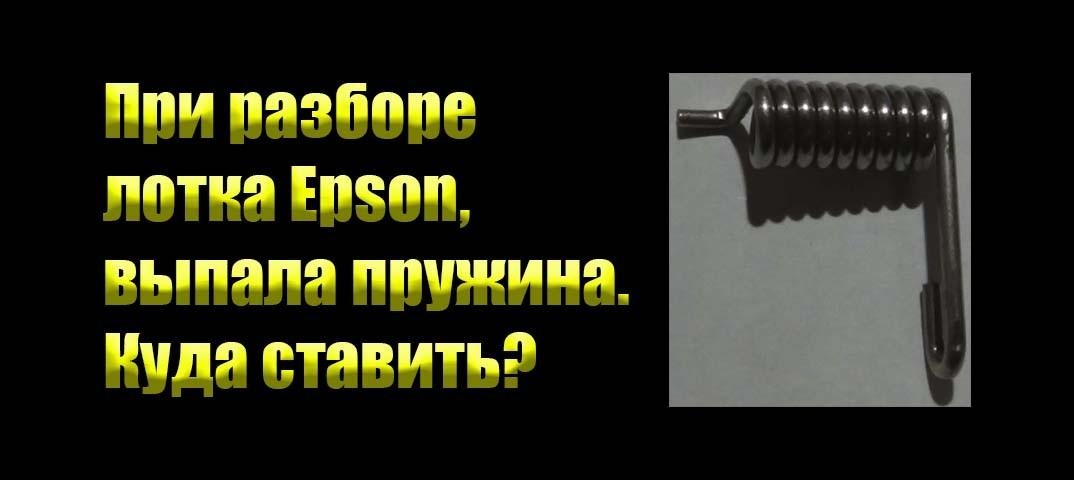 При разборе лотка Epson, выпала пружина.