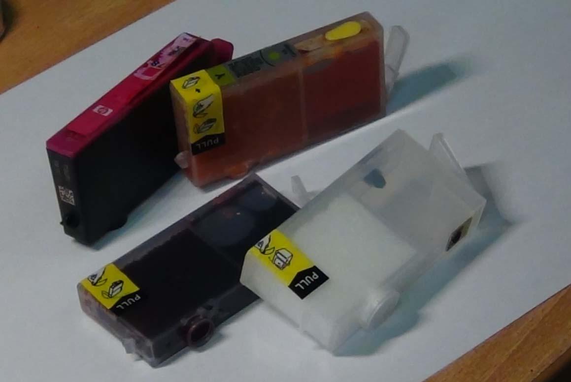 HP и Canon. Заправка раздельных картриджей струйных принтеров.