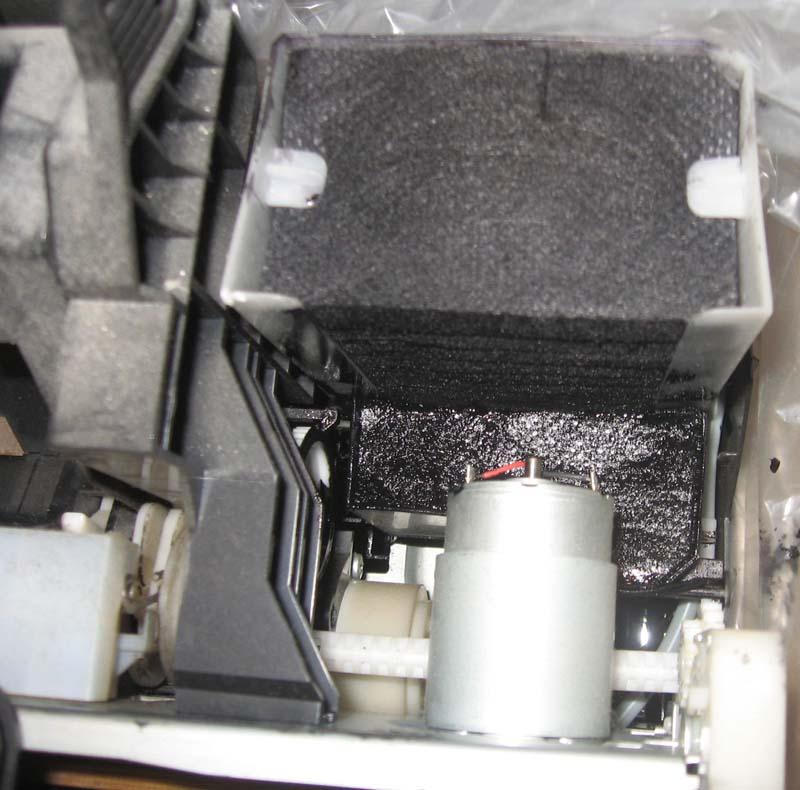 Переполенный памперс Epson, вывод трубки