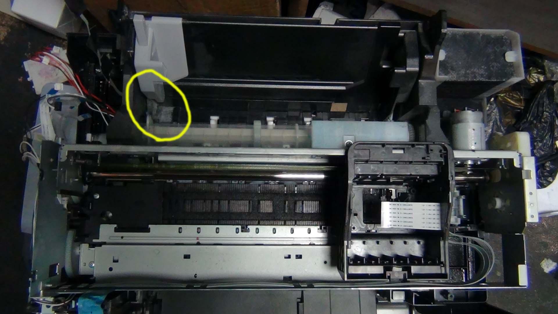 Остатки пыли в принтере