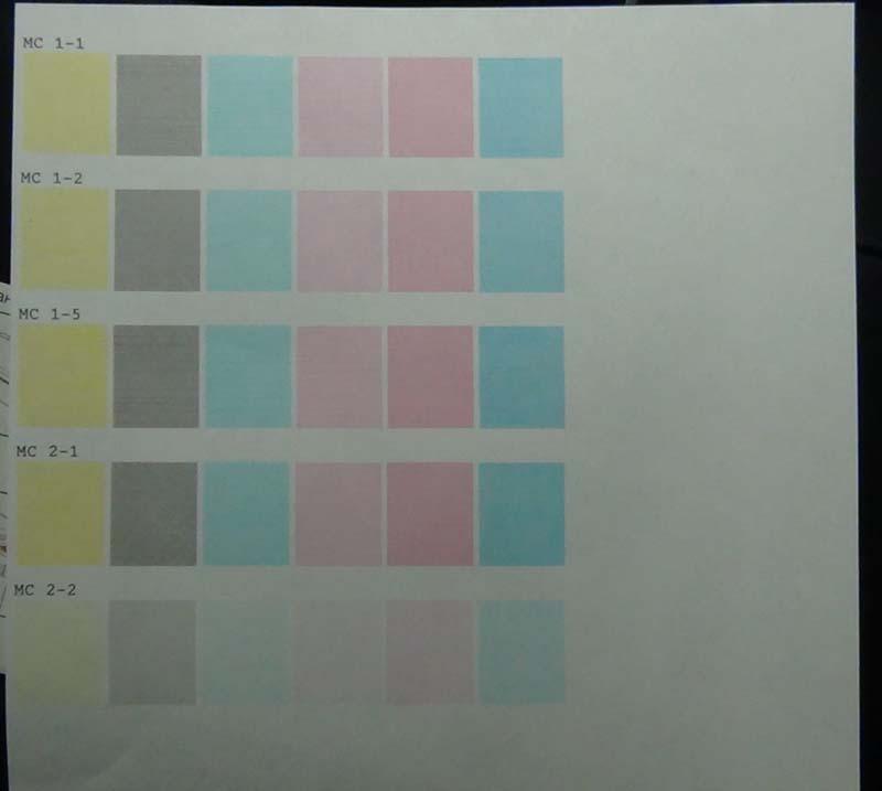 Тест режимов печати 3