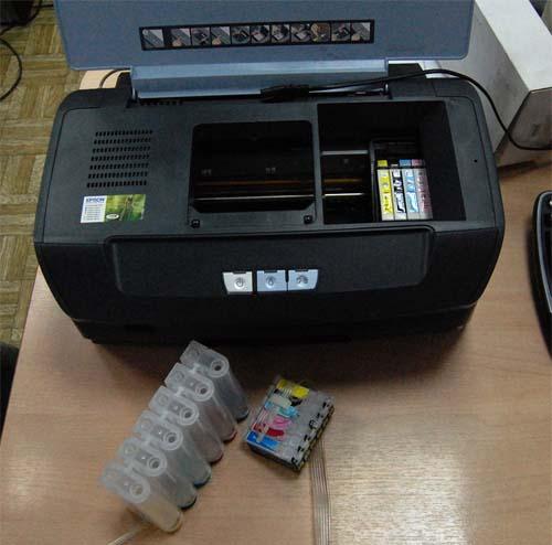 снпч промывка и установка в принтер
